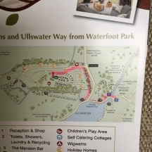 Map showing walk into Pooley Bridge from site
