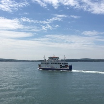Passing the other Wightlonk ferry across the Solent