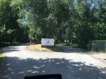 Driveway at entrance