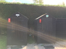 Toilet and shower huts