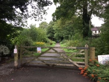 Gate to cycle path